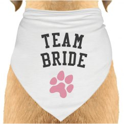 Team Bride Dog Bandana