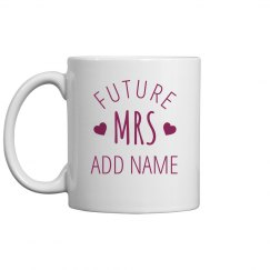 Custom Mrs Bridal Gift
