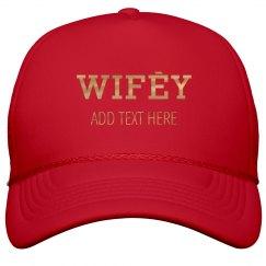 Shiny Gold Custom Wifey Name