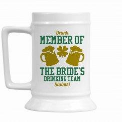 Irish Bride Drinking Team Gift