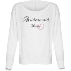 Ladies Flowy Long Sleeve Off The Shoulder Tee