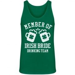 Member of Irish Bride Drink Team