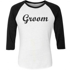 Groom Baseball Tee