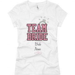 Team Bride Custom Name