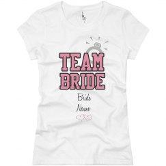 Team Bride Custom Name