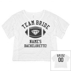 Team Bride Football Crop