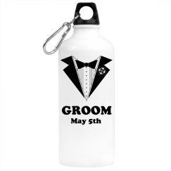Groom's Water Bottle