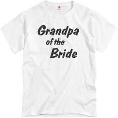 Grandpa of the Bride Men's bridal party T-Shirt