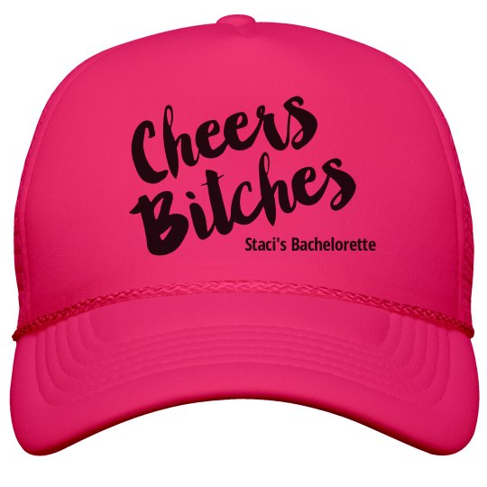 Cheers Bitches Neon Hat Neon Snapback Trucker Hat a23f3b1d0f28