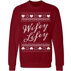 Wifey Lifey Ugly Sweater First Xmas