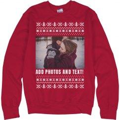 Custom Photo Christmas Sweater