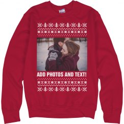 Custom Photo Christmas Sweater