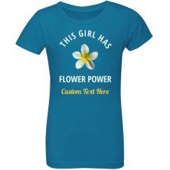 Flower Power Flower Girl Custom Bridal Party Gift