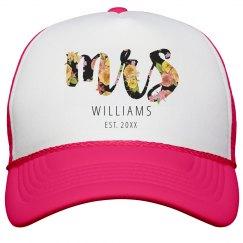 Mrs Floral Neon Hat