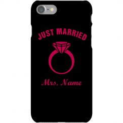 Just Married Mrs Name Here