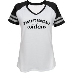 Ladies Fantasy Football Widow Newlywed Tee
