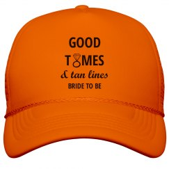 Good Times and Tan Lines Trucker Hat
