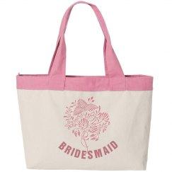 Pink Bridesmaid Tote Bag