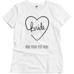 Personalized Bride Tee