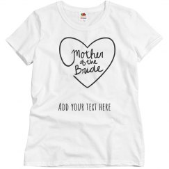Personalized Mother of the Bride Tee