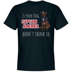 Is your dog Captain America?