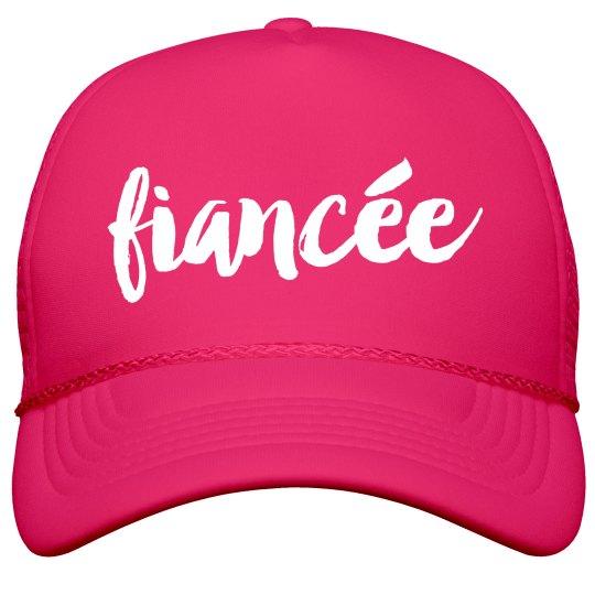 a13fa0e8b1b Bride To Be I m His Fiance Film and Foil Solid Color Snapback Trucker Hat