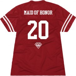 Custom Maid of Honor Name Number Jersey