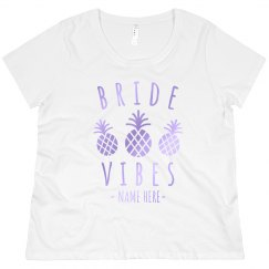 Beachy Bride Vibes Plus Tee