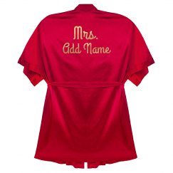 Custom Gold Mrs Last Name