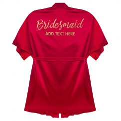 Custom Bridesmaid Gold Text