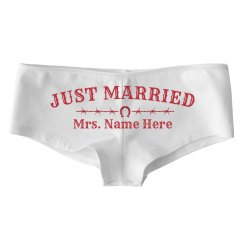 Custom Just Married Undies with Barbed Wire