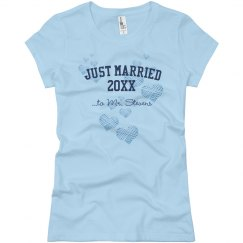 Just Married Hearts Tee