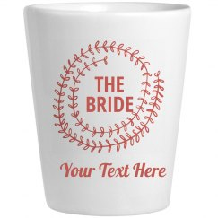 Custom Bride Leaf Shot Glass