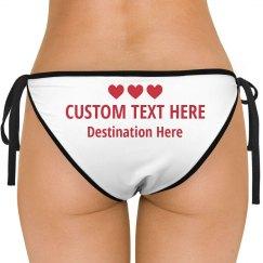 Personalized Text Honeymoon Bikini