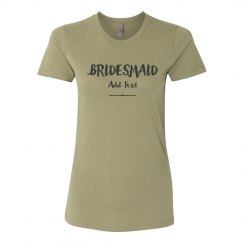Trendy Custom For The Bridesmaid