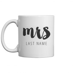 Custom Text Mrs Wedding Gift