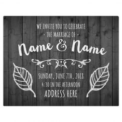 Custom Wedding Invitation Puzzle
