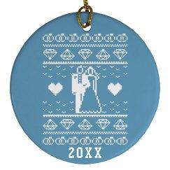 A Bride Gift Tag Ornament