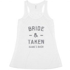 Bride & Taken Custom Silver Metallic