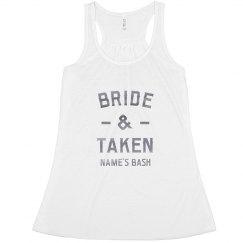 Bride & Taken Custom Silver Metallic