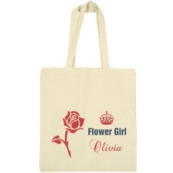 Flower Girl Tote Bag
