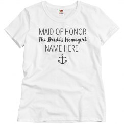 Bride's Homegirl Custom Nickname Maid of Honor