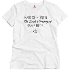 Bride's Homegirl Custom Nickname Maid of Honor