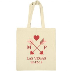 Wedding Welcome Bags Tote Name Initials