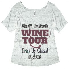 Wine tour bachelorette tee