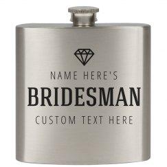 Bridesman Custom Gift Flask