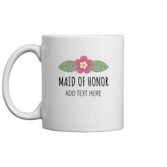 Custom Maid Of Honor Bridal Gift