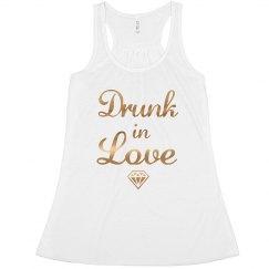 Drunk In Love Gold Foil Bride Tank top Bachelorette