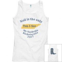 Nashville Bachelorette Bride tank