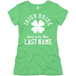 Irish Bride Custom Last Name